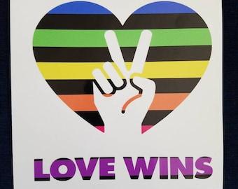 Love Wins PRIDE vinyl decal