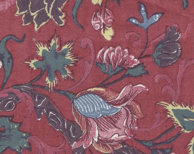 Dutch Chintz - Tulips Madder Red 1/2 yd