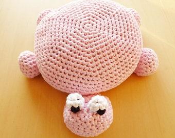 Crochet Turtle Pillow Pouf Ottoman Floor Cushion - Instant Download