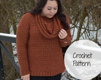 Crochet Pattern- Crochet sweater pattern- crochet top- crochet cowl- crochet jumper- crochet garment