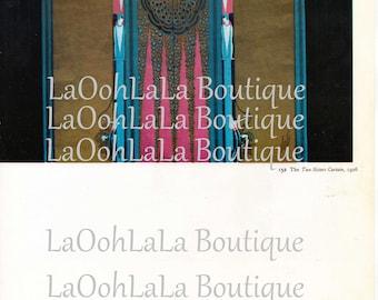 1926 Mirror Image Flappers Digital Printable Two Sisters Curtain Erté Costume Designer Fashion Image Twins Opera Invites Theatre Program Art