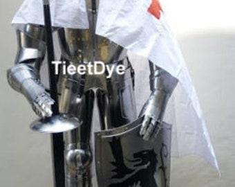 MEDIEVAL knight crusder full suit of armour colloutible ARMOR COSTUME