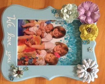 Custom hand painted photo frames for Holidays, Birthdays, Baptism or any occasion.