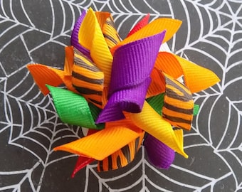 Halloween Dog Bows//Halloween Korker Bows for Dogs//Halloween for Dogs//Dog Hair Accessories//Dog Korkers//Halloween Korkers