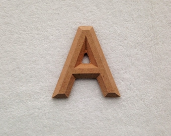 """Wood Letters Unfinished with Beveled Edge 2.25"""" in Kalinga"""