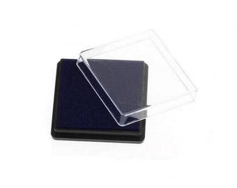 Ink stamp dark blue square