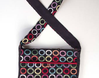 Messenger bag Crossbody fabric geocercles multio women