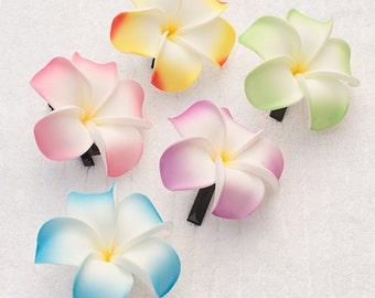 Flower Hair Clips - Plumeria - Set of 3