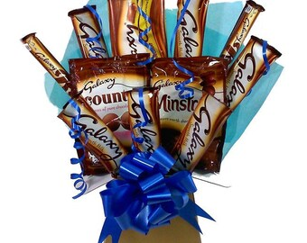 Galaxy Chocolate Bouquet, Sweet Hamper, Chocolate Hamper, Husband gift, Sister gift, Daddy gift, Son gift, Boyfriend gift