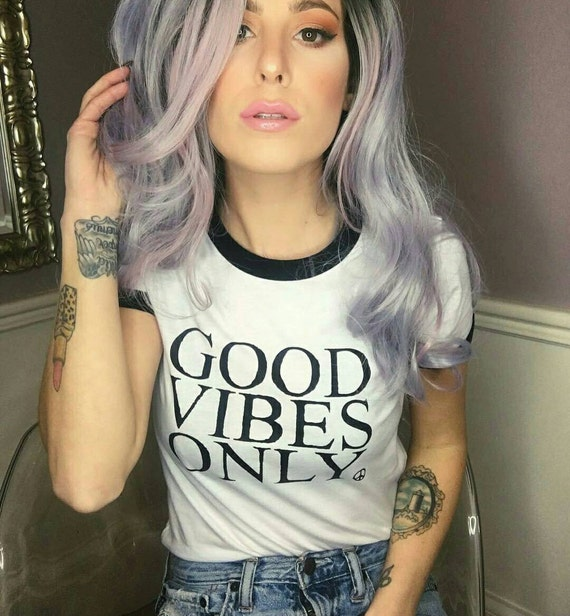 GOOD VIBES ONLY, Unisex, Black and White Ringer Tee, Good Vibes Tee, Good Vibes Only,  Good Vibes, Good Vibes Only Tee