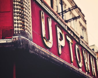 Chicago Photography - Wall Decor -   The Uptown - vintage Chicago marquee,