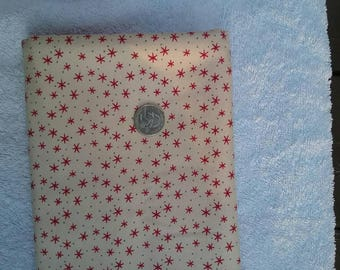 Debbie Mumm * Cream and Red Flannel Fabric