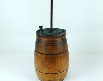 Vintage miniature wood butter churn