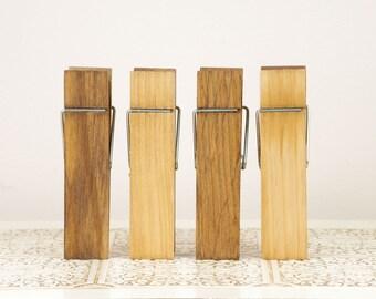 Medium Size Wood Clothespins - Golden Oak Photo holder