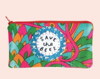 Save the Bees Zippie Pouch Pencil Case