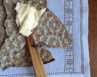 Vintage Swedish Embroidery: Beige Star