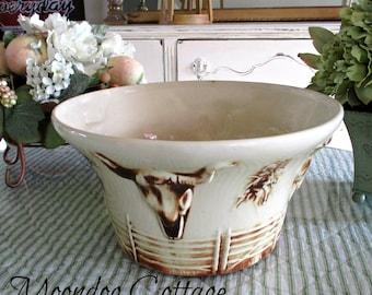 1960's Collectible McCoy El Rancho Salad Bowl/Chip Bowl - RARE