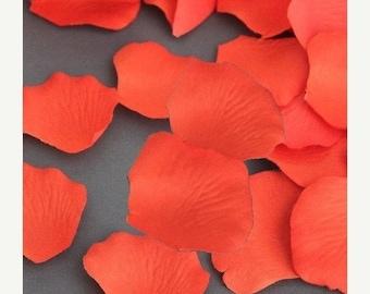 75% Off 200 Coral Orange Silk Flower Wedding Petals