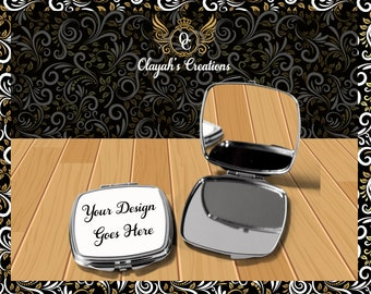 Custom Compact Mirror- Compact  - Personalized  Compact Mirror - Cusrtom Personalized  Compact Mirror