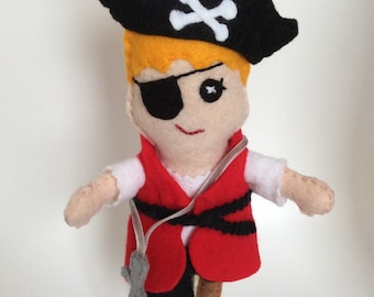 "Felt Pirate doll ""Pip"""