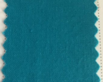 Turquoise Quilter's Homespun 100% Cotton Fabric 1/2m lengths
