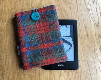 Kindle paperwhite case - Harris Tweed e-reader cover - Wool Anniversary - Kindle sleeve - Christmas gift