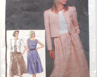 Simplicity 6748 - Square Neck Dress and Cropped Jacket Sewing Pattern - Sizes 10-12-14, Bust 32 1/2 - 36