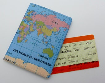 Oyster card holder, bus pass holder, travel card holder, wallet.World map print wallet.Card wallet, Oyster card wallet, card holder.
