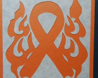 Leukemia Awareness Ribbon Scherenschnitte