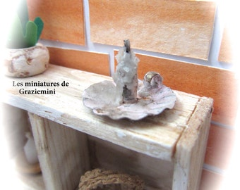 Miniature candlestick- scale 1:12-Dollhouses miniatures