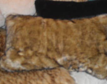 "Siberian Sable Faux Fur Throw Pillow Cover 14""x22"" Rich Accent Pillow Cover Soft Lush Sable"
