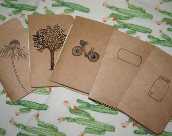 Pocket Journals - Handmade - Journals - Wedding - Favors - Wedding Favors