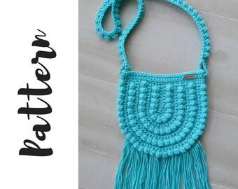 Crochet Boho Bag Pattern, Crochet Adult Bag Pattern, Crochet Boho Bag Pattern, Crochet Crossbody Bag Pattern, DIGITAL DOWNLOAD