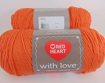 Mango - Red Heart With Love worsted weight 100% acrylic yarn - 8508