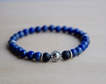 Libra Bracelet / blue jewelry zodiac, astrology gift ideas, astrology bracelet, lapis blue bracelet, zodiac sign jewelry, lapis lazuli