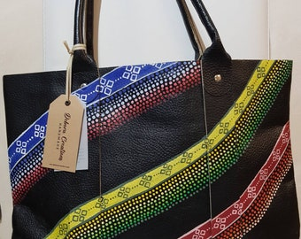 Handmade and Hand painted  Tote Bag