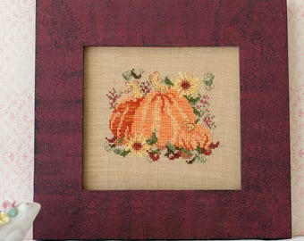 Pumpkins Sunflowers Cross Stitch PDF Pattern Set