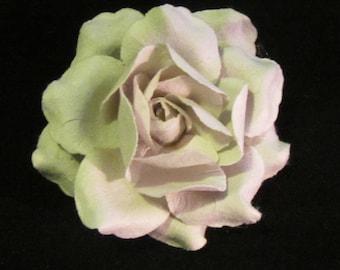 Large Rose Lapel Pin - Light Grey - Men's Accessories- Everyday/Weddings/Proms