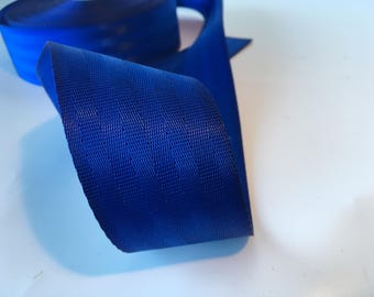 "1m Royal Blue polyester Webbing 50mm/2"" wide - seatbelt type webbing, bag strap, bag handle"