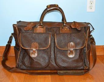 Vintage Ghurka Marley Hodgson No. 2 EXPRESS Chestnut Vintage Leather Duffel Bag