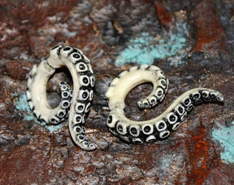 Octopus jewelry - Fake gauges - Spiral earrings