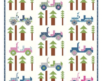 Jeepers Quilt Pattern by Kelli Fannin Quilt Designs KFQP128
