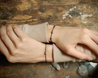 Couples bracelet pyrite bracelets couple for her him matching bracelets his her gemstone bracelet couples gift valentine's Day minimalists