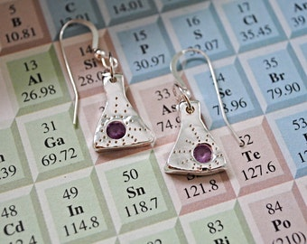Erlenmeyer Flask Earrings