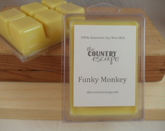 Funky Monkey Scented 100% Soy Wax Melt Tart - An Intriguing Blend  -Triple Scented