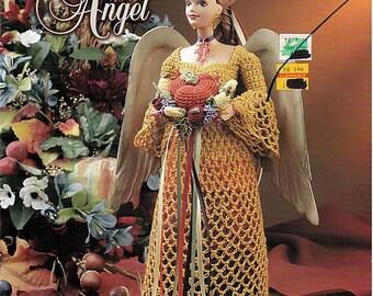 Autumn Farvest Angel  Fashion Doll  Crochet Pattern  Annies Attic 870917