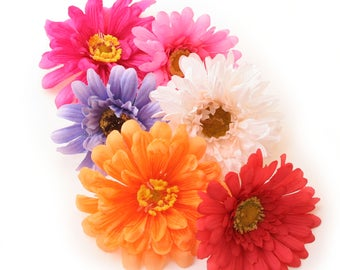 13 Daisy Grab Bag- Artificial Flowers, Silk Flower Heads