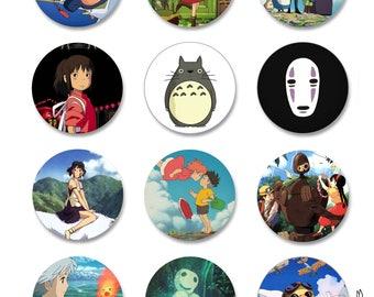 Studio Ghibli Buttons