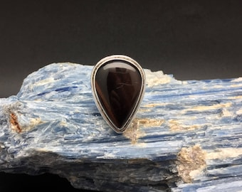 Silver Agate Ring // 925 Sterling Silver // Agate // Sterling Agate Ring // Size 7