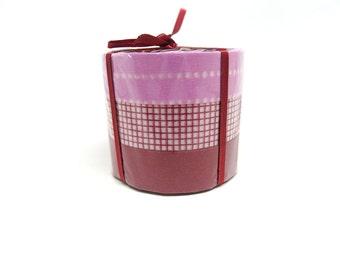 Purple and Maroon Washi Tape Set of 3